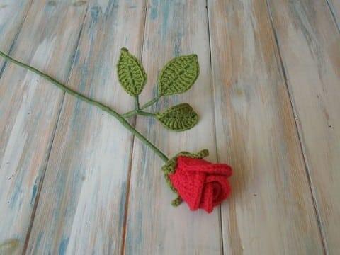rosas a crochet paso a paso flor