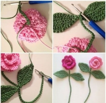 rosas a crochet paso a paso grande