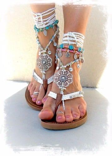 sandalias en crochet para mujer de ganchillo