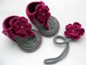 sandalias en crochet para mujer paso  a paso