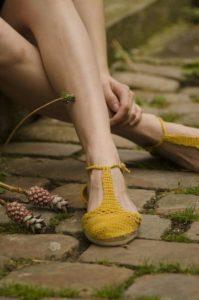 sandalias en crochet para mujer patrones