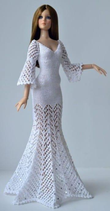 Patrones de vestidos tejidos a crochet para barbies – Nuevos ...