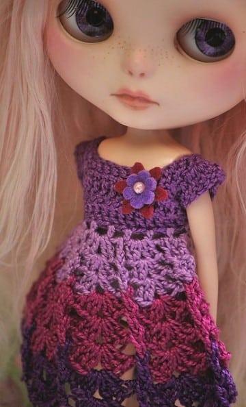 Vestidos de muñeca a crochet encuentra patrones gratis | Tejidos a ...