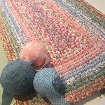 alfombra trapillo rectangular de nudos