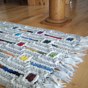 alfombra trapillo rectangular trenzada