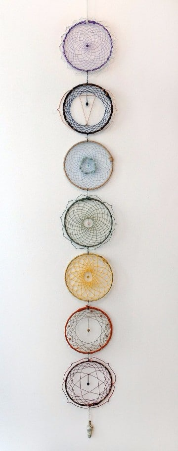 atrapasueños a crochet con diseños