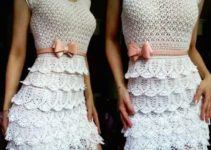 Diseños sencillos de blusas tejidas a crochet hermosas