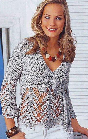 blusas tejidas a crochet hermosas de verano
