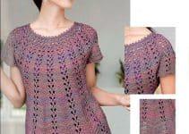 Hermosos modelos de blusas tejidas a crochet rusas