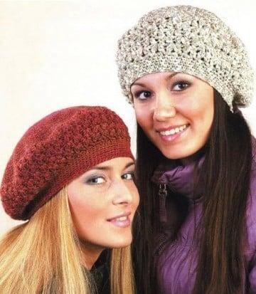 boinas tejidas a crochet patron