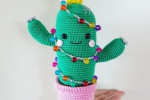 Imagenes con hermosos cactus tejidos al crochet faciles