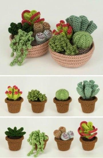 cactus tejidos al crochet tejidos