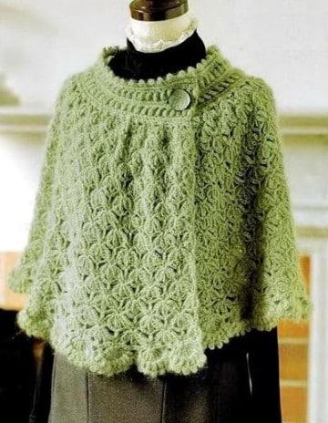 capas tejidas a crochet paso a paso dos agujas