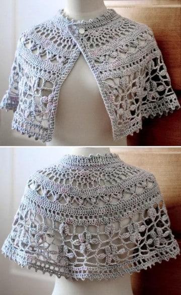 capas tejidas a crochet paso a paso ponchos