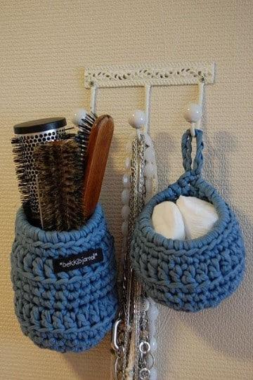 cesta de trapillo redonda crochet