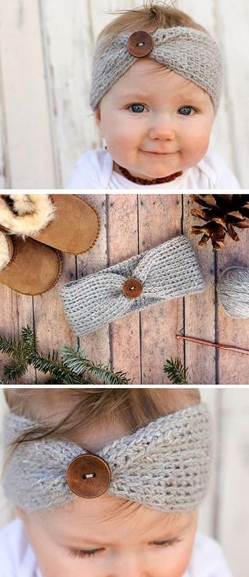cintillos tejidos a crochet para niña