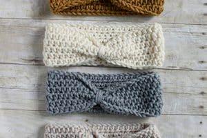 Hermosos diseños de cintillos tejidos a crochet paso a paso