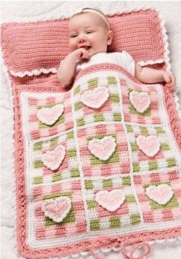 colchas a crochet para bebes mantas