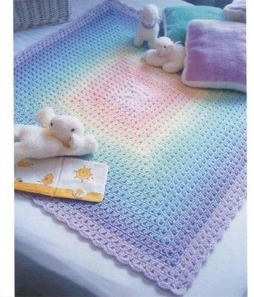colchas a crochet para bebes tejidas
