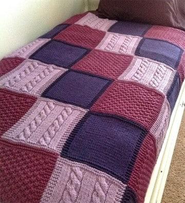 colchas tejidas a crochet a mano