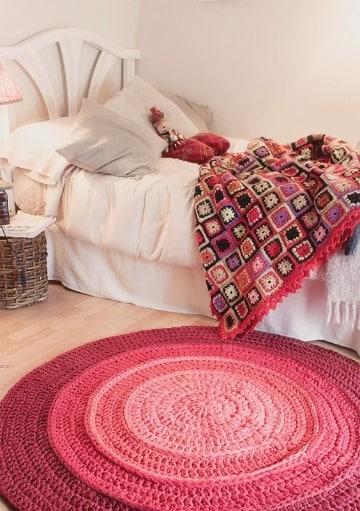 colchas tejidas a crochet faciles