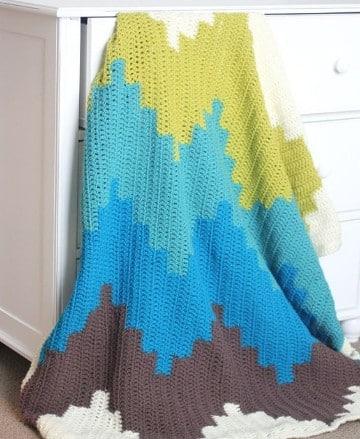 colchas tejidas a crochet tejidos