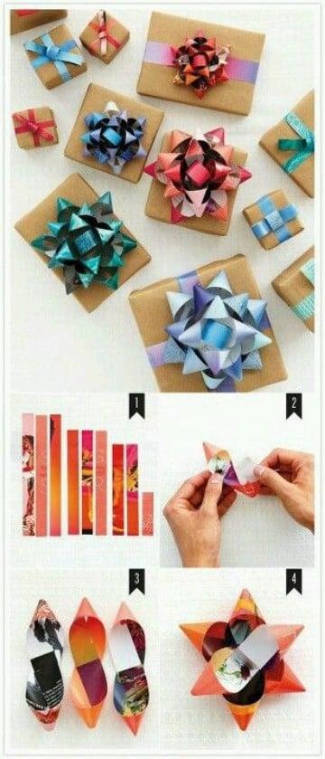 como hacer moños de cinta de agua regalos sencillos