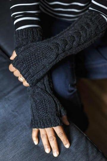 guantes tejidos a gancho como tejer