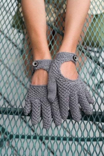 guantes tejidos a gancho para niños