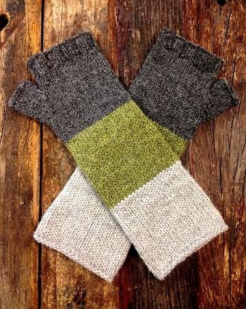 guantes tejidos a gancho sin dedos