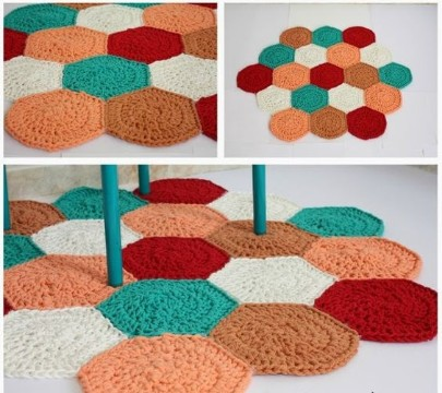 hacer alfombra de trapillo nudos
