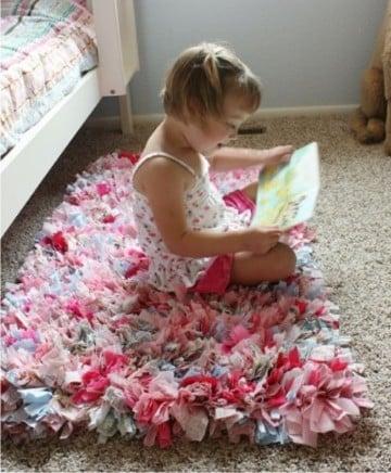hacer alfombra de trapillo totora