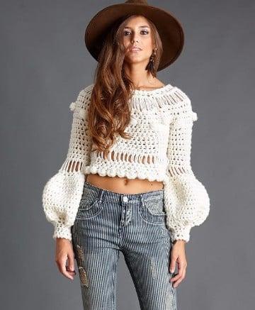 jerseys de ganchillo para mujer