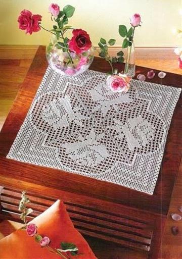 manteles a crochet rectangulares a mano