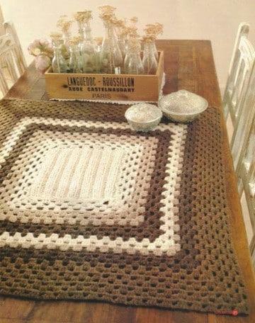 manteles a crochet rectangulares gratis