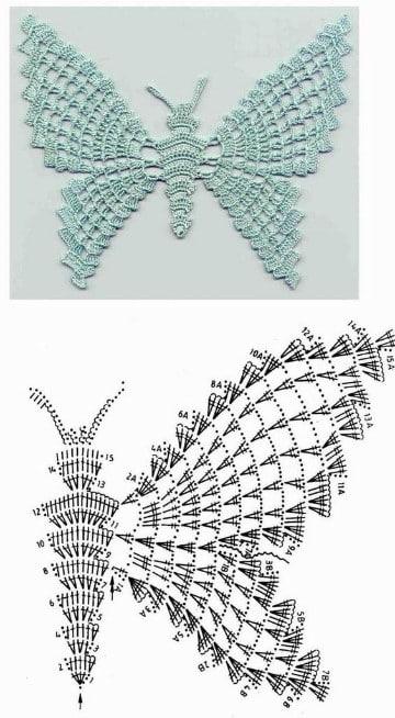 mariposas de ganchillo patrones