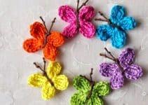 Como hacer sencillos diseños de mariposas de ganchillo