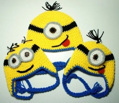 minions a crochet gorro