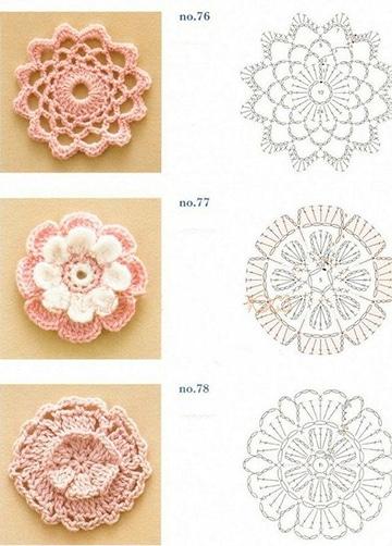 patrones de flores a crochet faciles