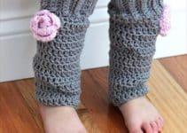 Modelos y sencillos diseños de polainas tejidas a dos agujas