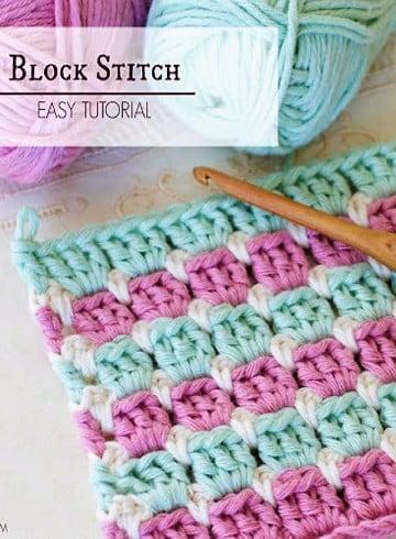 puntadas en crochet para colchas para bebe
