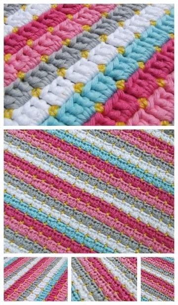 puntadas en crochet para colchas paso a paso