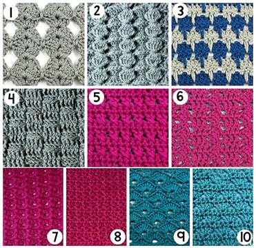 puntos basicos del crochet, crochet basico para principiantes, puntos sencillos a crochet, puntos de crochet paso a paso