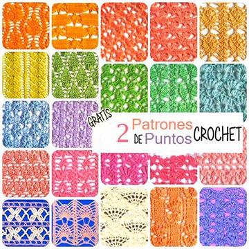 puntos calados a crochet con patrones
