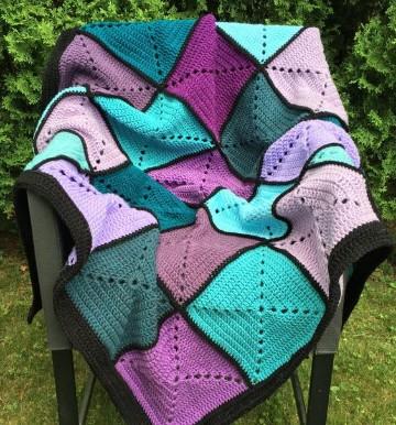 puntos de crochet para mantas colchas