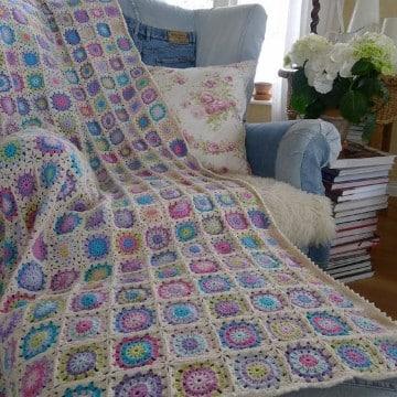 puntos de crochet para mantas puntadas