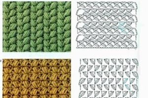 Bonitos y sencillos modelos de puntos para tejer a palillos