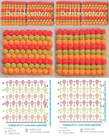 puntos para tejer a palillos para bufanda