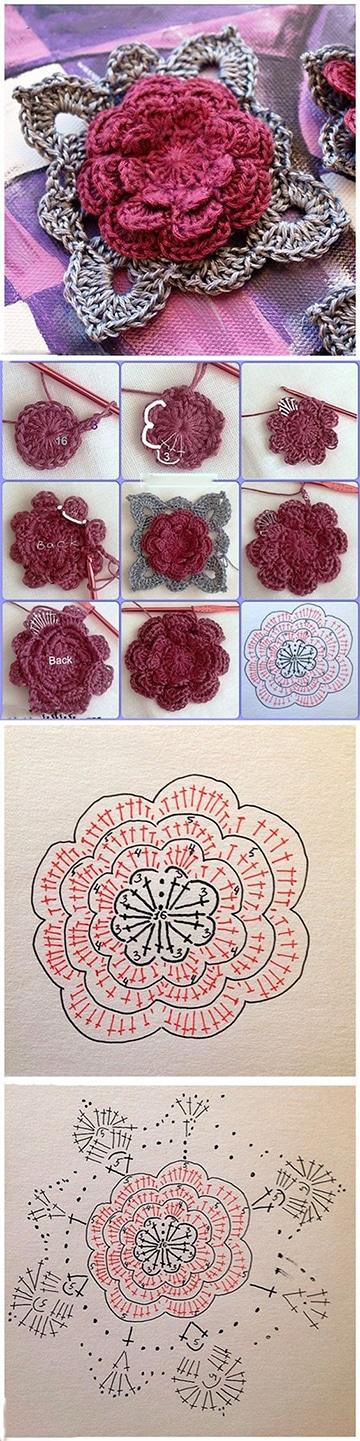 rosas tejidas a crochet patrones gratis