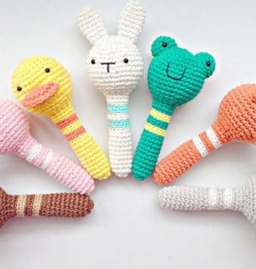 sonajeros de ganchillo para bebes